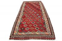 36081 Gaschgai Design Antique Vegetable Dyed Kilim Runner - 5′ × 11′7″