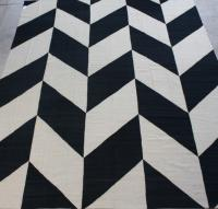 57041 Black and White Kilim 11'7x14'4