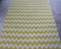57046 Yellow and White Kilim 10'2x12'11