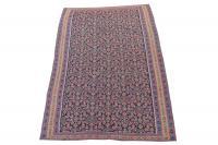 57672 Antique Senneh Kilim Western Iran Kurdish Rug Size 4'2