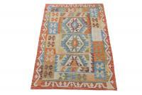 58665 Afghani Dyed Wool Rug - 3′3″ × 4′6″