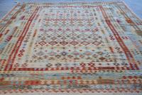 58696 Oversize Turkish Kilim 9'9