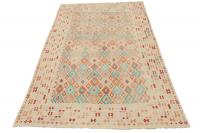 58699 Multi color oversize Kilim 12'8
