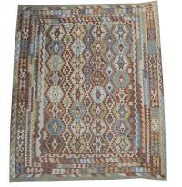 58726 Afghani Design Vegetable Dyed Wool Kilim Rug - 9'2