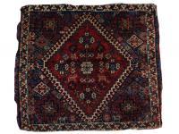59632 Antique Ghashghaie Bag Face w/silk - 2'4