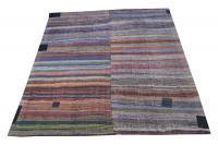 60338 Antique Turkish Handmade Flatweave Rug Size 11'3