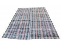 60346 Antique Turkish Multi Color Handmade Flatweave Rug Size  10'1