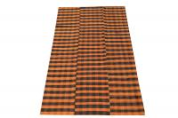 60395 Turkish Modern Handmade Striped Flatweave Textile Rug - 9′3″ × 5′7″