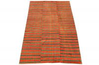 60415 Turkish Handmade Striped Flatweave Rug - 9′10″ × 6′2″