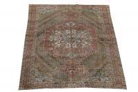 61338 Antique Iran Saman Bakhtiar rug 6'11