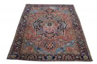 61435 Antique All Wool Persian Heriz 11'4