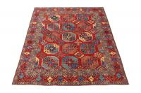 61498 Antique Turkman design rug 10'2