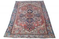61581 Traditional Antique Heriz- 11'x7'8