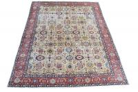 61593 Multi Color Vintage Tabriz 9'x12'