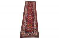 61962 Antique Kazak All Wool 3'3'x11'8
