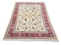 62177 Traditional Hand-Knotted Wool Indian Rug - 9′6″ × 13′8″