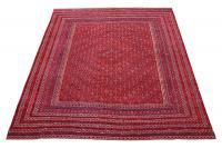 62285 Vintage Afghan Red Burgundy Rug 10'x11'6