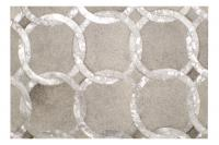 Custom Cowhide Cadenas Silver Metallic