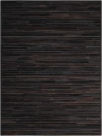 Handmade Cowhide Stripes ARP-01 Color Black