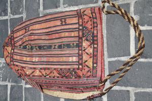 Antique Turkman animal ornament 1'2