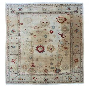 122820C Vintage Oushak Rug 12′×17′4″