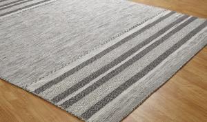 Modern Hand Knotted Wool & Silk Andres