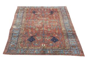 Late 19th century Antique Persian Heriz - 7'1