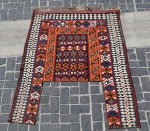 32186 Antique Baktiar Horse cover kilim 5ft x 4ft x 2in