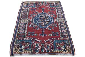 Antique Persian Senneh kilim 4'5