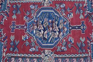 Antique Persian Senneh kilim 4'5