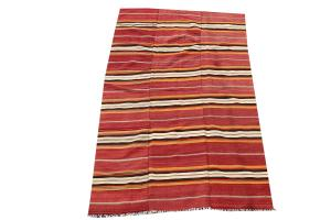 Striped Old Persian Kilim - 5'1