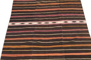 38337 Nomadic Brown Wool Kilim 6'x8'11