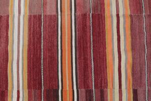 Vintage Turkish Flat-Weave Kilim Rug Size 5'9
