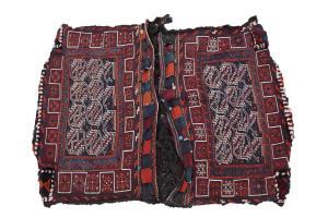 Antique Bakhtiari wool Saddlebag 4'5