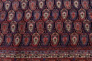 Antique Persian Senneh Baft Tabriz 10.7x17