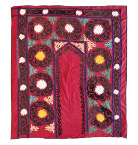 53091 Antique Uzbek Suzani, circa 1920 5'4