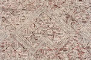 TRANSITIONAL INDIAN WOOL AND SILK RUG