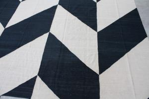 Black and White Kilim 11'7x14'4