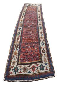 Antique Western Iran Persian kurdish Rug 3'5