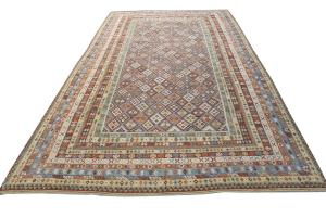 Flatweave multi color kilim 15'3