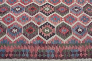 Flatweave multi color Kilim 9'10
