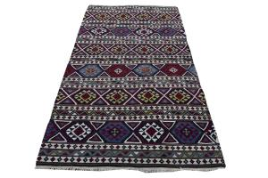 Antique Caucasian Kilim 4.8x9.3