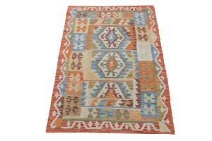 Afghani Dyed Wool Rug - 3'3