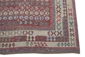 Afghani Design Vegetable Dyed Wool Kilim Rug - 9'8