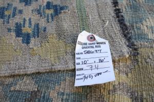 Kilim blue yellow green 10x16