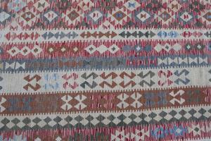 Flatweave multi color Kilim 9'8