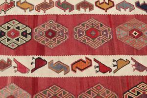 Antique Vegetable Dyed Wool Kilim Rug - 5'5