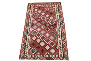 Old Colorful Kilim 4'11