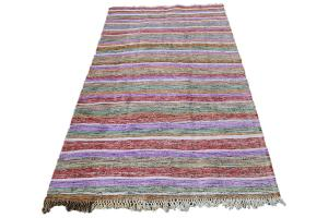Modern Multi Color Turkish Handmade Flatweave 10'8