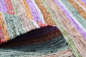 Modern Multi Color Turkish Handmade Flatweave 10'8